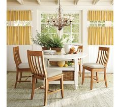 fun, casual dining room table.  with extra storage underneath!