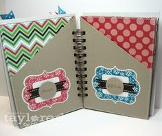 Altered Notebook Christmas Organizer