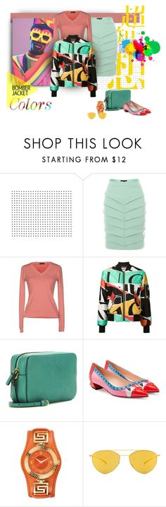 """""""Color Bombing"""" by michelletheaflack ❤ liked on Polyvore featuring Judy Wu, Maglierie Di Perugia, Moschino, Fendi, Versace, Mykita, women's clothing, women, female and woman"""