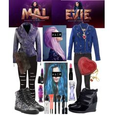 A fashion look from August 2015 featuring MICHAEL Michael Kors jackets, rag & bone jeans and Jeffrey Campbell sneakers. Browse and shop related looks. Disney Themed Outfits, Disney Dresses, Disney Descendants Mal, Disneybound Outfits, Mal And Evie, Disney Decendants, Disney Inspired Fashion, Character Inspired Outfits, Fandom Fashion