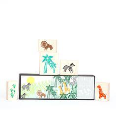 Jungle Stamp Set by Yellow Owl Workshop #zulily #zulilyfinds