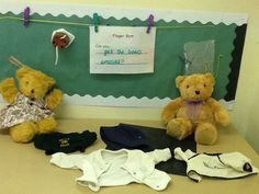 Dress the bear!  Exploring fastening and dressing/undressing.