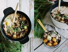 GRÄDDIG VEGETARISK JULGRYTA MED RÖDVIN & FÄRSKA CHAMPINJONER - CREAMY CHRISTMAS STEW - All things green