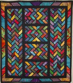 Braid with a Twist, stained glass effect, by Rick McGuire