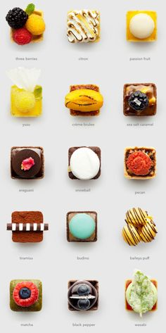 Mini #tarts chart. I want them all. Every day of my #life. Thank you.