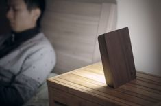 HCWDstudio is raising funds for Brick Lamp - Reveal the light on Kickstarter! Portable LED lamp with built-in battery in simple elegant shape. The BRICK LAMP is activated when raised(on) or laid flat(off). Concrete Bricks, White Concrete, Lighting Concepts, Lighting Design, Lampe Led, Led Lamp, Stone Lamp, Lumiere Led, Mood Light