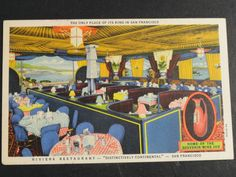 Vintage postcard of the Riviera Restaurant, San Francisco, California