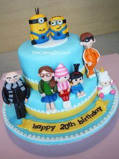 Cute food alert!  Cake + Minions = WIN!!!  Despicable Me Cake by TheCakingGirl