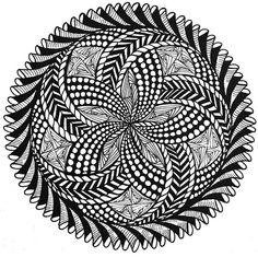 Ebb and Flow #doodles #zentangles #mandella