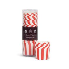 Baking Cups - Red and White Stripes