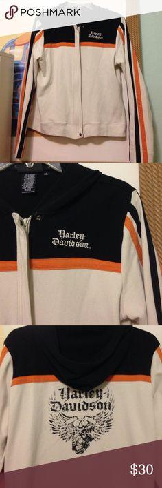 Harley Davidson jacket Great shape.  Thicker soft material.  No pockets.  Zip up and has hood. Harley-Davidson Jackets & Coats