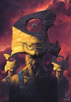 ArtStation - Minions, Luciano Fleitas Monster Concept Art, Fantasy Monster, Monster Art, Creepy Art, Weird Art, Creature Concept Art, Creature Design, Dark Fantasy Art, Fantasy Artwork