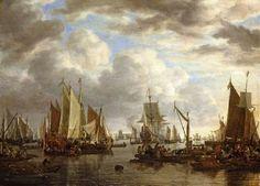 Simon de Vlieger - Scheepvaart voor Dordrecht (1651)