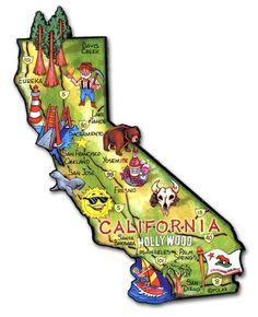 California Map Cartoon.California Map Cartoon