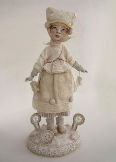 Snowflake Girl - art doll by Anna Zueva by Anna Zueva, via Flickr
