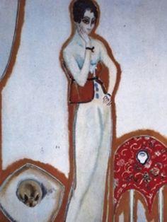 Kees Van Dongen - Femme au fond blanc, 1912