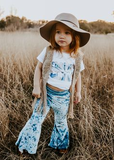 Blue Crush Velvet Bell Bottoms - Blue Crush Velvet Bell Bottoms – Kapri Couture Source by - Little Girl Outfits, Cute Outfits For Kids, Little Girl Fashion, Toddler Girl Outfits, Kids Fashion, Baby Outfits, Toddler Girl Clothing, Cute Baby Girl, Hippie Baby Girl