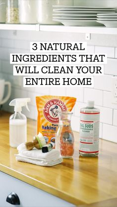 Natural Cleaning Solutions, Natural Cleaning Recipes, Homemade Cleaning Products, Deep Cleaning Tips, House Cleaning Tips, Natural Cleaning Products, Cleaning Hacks, Cleaning Supplies, Diy Products
