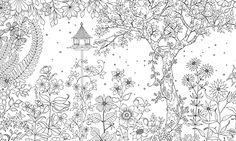 'Secret Garden' printable coloring sheets via The Guardian.