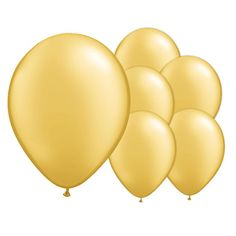 Champagne Gold Latex Balloons – 12 Inches / 30cm – Pack of 50
