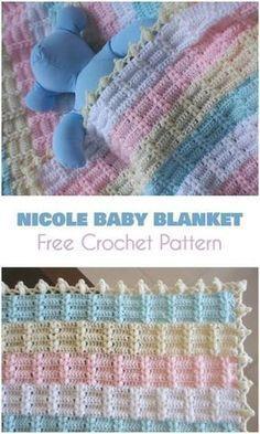 Nicole Baby Blanket [Free Crochet Pattern] Beautiful blanket or bedcover for baby - free crocheting pattern