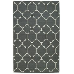 Capel Rugs // Genevieve Gorder Arabesque Dark Gray Area Rug