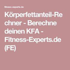 Körperfettanteil-Rechner - Berechne deinen KFA - Fitness-Experts.de (FE)