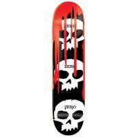 Zero 3 Skull Blood R7 Skateboard Deck, color: Black, category/department: skate-decks