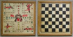 Vintage Wooden Board Hand Made Backgammon Cubes Wood Old