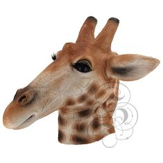 Excited to share this item from my #etsy shop: Deluxe Latex Realistic Animal GIRAFFE Mask for Cosplay Halloween Party Props Carnival