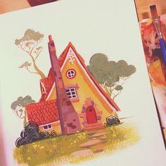 """134 次赞、 14 条评论 - Scott Gwynn (@scottgwynn) 在 Instagram 发布:""""Painting in my sketchbook tonight."""""""