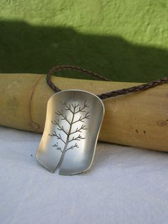 Upcycled spoon Pendant - Tree of Life