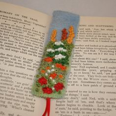 Bookmark Embroidered and Felted   Cottage Garden by Lynwoodcrafts, £9.00