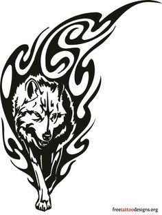 60 Awesome wolf tattoos + more about the meaning of wolves. Designs include tribal and howling wolves, wolf head and paw tattoos. Wolf Tattoo Design, Tribal Tattoo Designs, Tribal Wolf Tattoos, Tattoo L, Body Art Tattoos, Skull Tattoos, Wing Tattoos, Chest Tattoo, Sleeve Tattoos