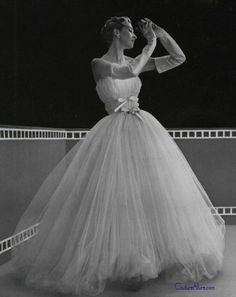 Vintage Gown by Balenciaga 1953