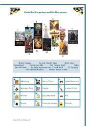 english worksheet film genres for elementary students