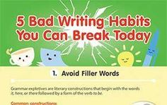 5 Bad Writing Habits You Can Break Today (Infographic)