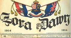 Zora - The Dawn, Croatian newspaper in Australia and NZ Auckland, 1914