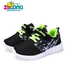3f41d7eb485c 2018 Springsko Bløde sneakers til teenagere Børns behagelige løbesko til  drenge og piger