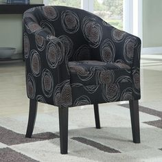 Accent Seating Upholstered Circles Accent Chair