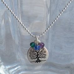 Mothers Necklace  Custom  Family Tree  Tree of by sunflowerjewelry, $22.00