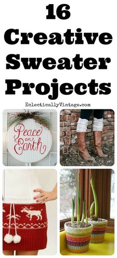 Diy Crafts Ideas : 16 Creative Sweater Crafts  for house and wardrobe! eclecticallyvinta