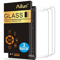 iPhone X Screen ProtectoriPhone 10 Screen Protector[3 Pack]by Ailun2.5D Edge Tempered Glass for iPhone X/10[5.8inch]Anti-ScratchCase FriendlySiania Retail Package