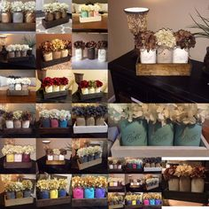 This listing is for our most popular and loved Ball Mason Jar Centerpieces! It is sure to set a perfect rustic look to any home decor! It is very