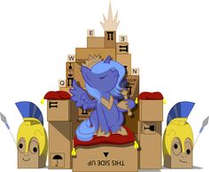 Woona the Bawks Qween... the Queen of the Box... cute filly Luna MLP :)