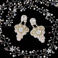 Massive bridal soutache earringsRoyal Soutache earrings