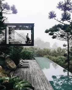 Enjoy your Saturday!⠀ ⠀ ⠀ If you want to get featured on my Sunday story, use my hashtag I will post 5 of my favorite pictures! Art Et Architecture, Residential Architecture, House In Nature, House In The Woods, Dream Home Design, Modern House Design, Modernisme, Luxury Homes Dream Houses, Forest House