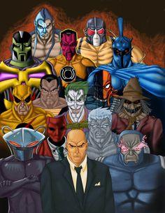 Resultado de imagem para dc heroes and villains Dc Comics Vs Marvel, Dc Comics Superheroes, Arte Dc Comics, Dc Comics Characters, Batman Comics, Comic Book Villains, Evil Villains, Young Justice, Greatest Villains