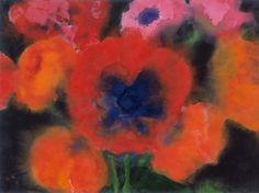 Emil Nolde - Grosser roter Mohn (by petrus. Emil Nolde, Watercolor Landscape, Watercolor And Ink, Watercolor Paintings, Watercolours, Watercolor Ideas, Flower Paintings, Edvard Munch, Städel Museum