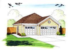 Garage Plan 44160 | Traditional Plan, 3 Car Garage